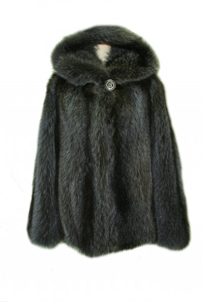 Меховое пальто из енота, код 10917.