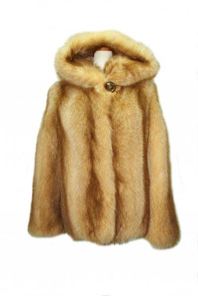 Меховое пальто из енота, код 11049.